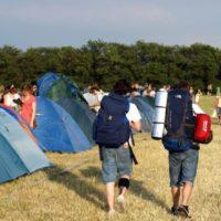 Pole namiotowo-kempingowe w czasie festiwalu Dziedzictwa Kresów