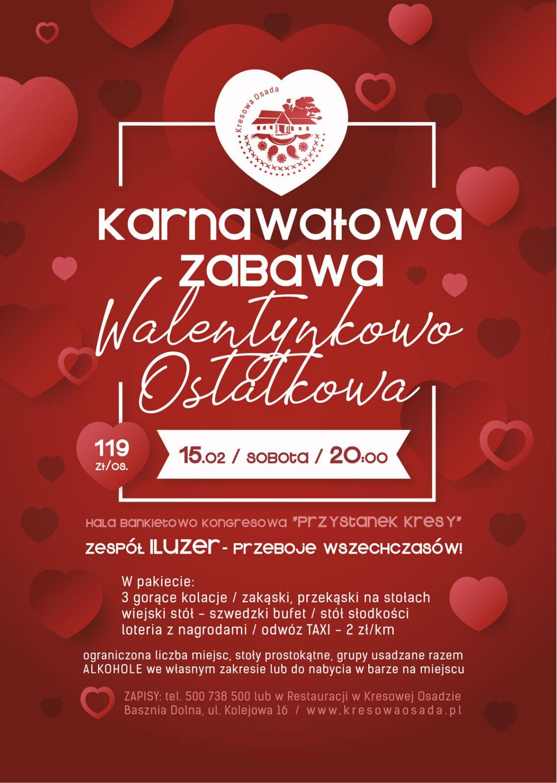 Karnawałowa Zabawa Walentynkowa