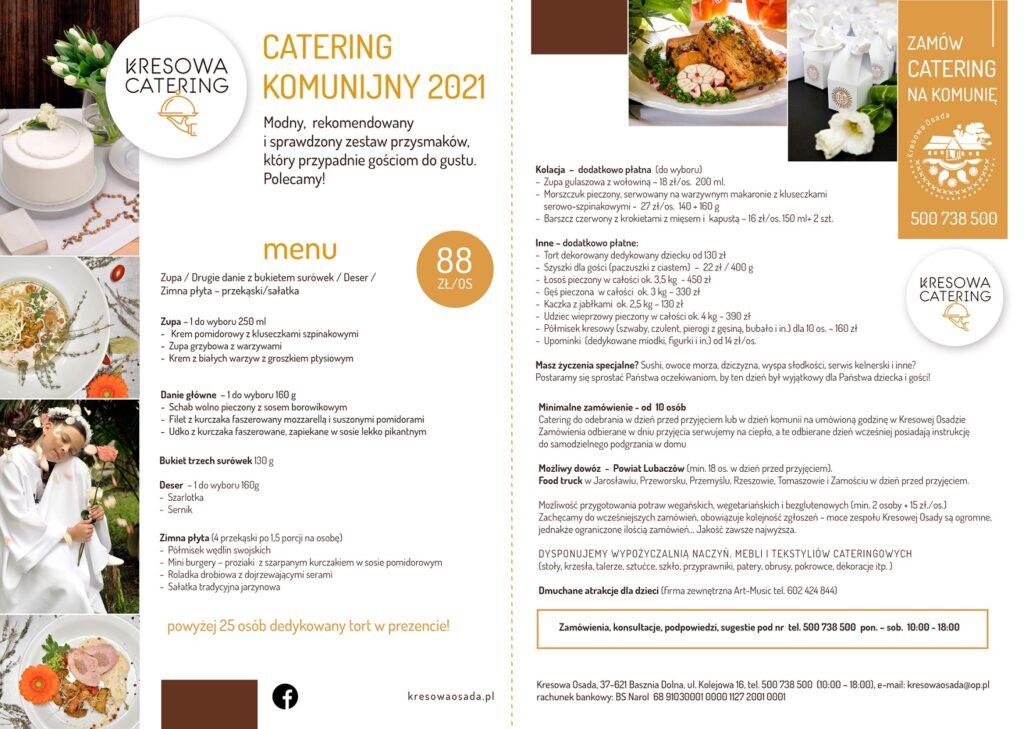 catering komunijny Kresowa Osada